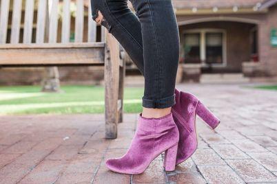 velvet-booties
