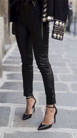 aimee_song_of_style_balmain_jacket_isabel_marant_leather_pants_iro_silver_top